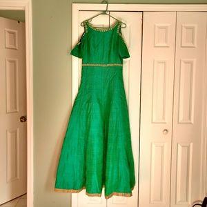 Dresses & Skirts - Floorlength Cold Shoulder Indian Gown Dress
